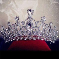 Bridal Wedding Rhinestone Crystal Tiara Hair Band Princess Prom Crown  Headband caacce65632f