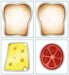 Sandwich Printables for Kids - Kids Lunch Printables - Kaboose.com-would be good to get children to reproduce a pattern