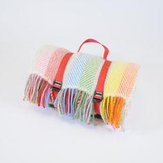 Tweedmill Waterproof Polo Picnic Rug Rainbow | Prezola - The Wedding Gift List