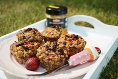 Bezglutenowe muffiny owsiankowe   Vegan Rebel! Healthy Food, Healthy Recipes, Rebel, Vegan, Chicken, Breakfast, Healthy Foods, Morning Coffee, Healthy Eating Recipes