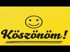 "Köszönöm - ""Thank you! Emoticon, Emoji, Learning Italian, Birthday Greetings, Holidays And Events, Smiley, Thankful, Funny, Happy"