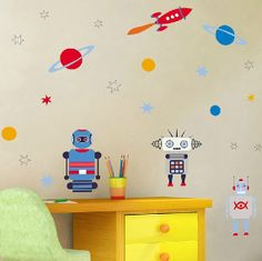 Outer Space Wall Decal Rocket DecalPlanet Wall by stickershut, $32.00