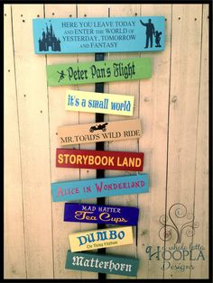 Your Disneyland or Disney World Favorite Memories Sign!! Unique, personalized wooden sign with YOUR favorite rides  attractions from DL/WDW on Etsy, $65.00