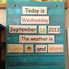 This is a simple calendar and weather pocket chart set! Great for Pre-K, Kinder and To familiarzie students with even and odd numbers they a. Calendar Time, Kids Calendar, Math Classroom, Classroom Organization, Maths, Teaching Materials, Teaching Resources, Calendar Ideas For Kids To Make, Teaching Calendar