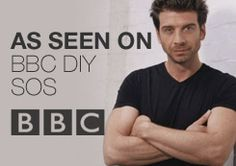 """From """"DIY SOS"""" this is a perfect example of an end to a TV trailer/spot as the medium shot of the presenter outlines who is the presenter, plus the clear background boosts an idea of all damage can be repaired; also making the logo and television broadcaster stand out."""