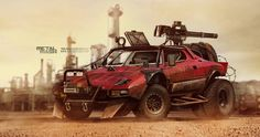 Stratos mad max by yasiddesign. more steampunk here. Shasta Camper, Top Gear, Mad Max Road, Chihiro Y Haku, Death Race, Armored Vehicles, Dieselpunk, Custom Cars, Concept Cars
