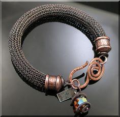 Bold Copper Viking Knit Bracelet by MustHaves on Etsy, $64.99