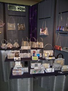 Trade Show Booth Display For Metal Screen Purses Bo S Art The Is Made
