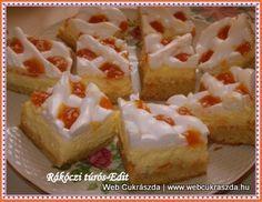 Poppyseed cake of Rákóczi Cottage Cheese Recipes, Breakfast Recipes, Dinner Recipes, Poppy Seed Cake, Hungarian Recipes, Food Photo, Vanilla Cake, Tart, Healthy Lifestyle