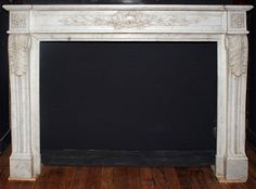 Good.  Fits large Mendota  Item ID: 102116  Description:White marble fireplace mantel having engaged pilaster jambs with scroll, acanthus and bead detail. Corner blocks and frieze have carved foliate motif. Opening: 44.25w x 33.75h. Material:Marble Dimension: 61(W) 43.5(H) 15.5(D) Location:NYC-4 Quantity:1 Status:avail Price:Call for Price Price Type:single
