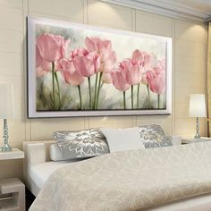 Compare Discount Full Diamond Painting Pink Tulips Diy Diamond Embroidery Flower Series Decoration For The Living Room A Good Gift For The Family Tulip Painting, Diy Painting, Diamond Paint, Pink Tulips, Colorful Paintings, Flower Wall, Watercolor Art, Canvas Wall Art, Bedroom Decor