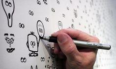 I See You: Interactive Wallpaper. Cavern ha realizzato I See You, una carta da parati per la camera interattiva: i bambini possono divertirsi a disegnare buffi personaggi intorno agli occhi già stampati. Potete acquistare i rotoli qui.