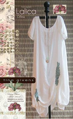 Lalica Dress Sewing Pattern by Tina Givens Lagenlook Style! Diy Clothing, Sewing Clothes, Clothing Patterns, Dress Sewing, Vestidos Jumper, Plus Size Sewing Patterns, Diy Couture, Vintage Dress Patterns, Mode Inspiration
