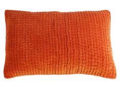 10 coloris disponibles - En-fil-dindienne - Coussin en velours Vague - 30x45 cm - Home Beddings and Curtains