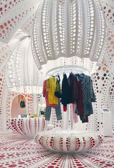 Louis Vuitton & Yayoi Kusama Concept Shop. It's like if Willy Wonka and Spongebob had a baby... that was adopted from Japan.