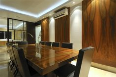 back lit wood panels wall - Google Search