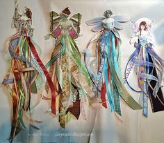 Paper and Ribbon dolls