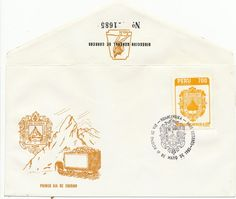 Peru First Day Cover- 1985 Huancavelica Coat of Arms- Scott 848