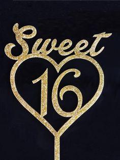 Sweet Sixteen Cake Topper Acrylic Cake Topper  by TrueloveAffair, $15.00