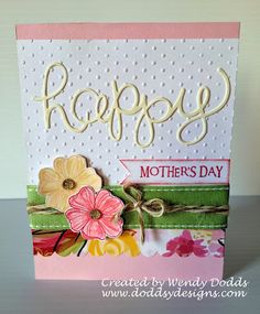 Doddsy Designs: Happy Mothers Day #Brushed #D1283SayItInStyle-retired #C1494CardWordPuzzle-retired
