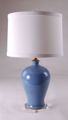 Great Perrywinkle Blue Lamp: Avala And Summerour Lamps