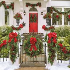 Christmas Cheer Wreath With Red Bow - Window Wreath (Corded) - Frontgate Outdoor Christmas Decorations Christmas Front Doors, Christmas Porch, Noel Christmas, All Things Christmas, Outdoor Christmas Wreaths, Christmas Quotes, Christmas Pictures, White Christmas, Christmas Ideas