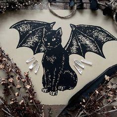 The Demon Cat by Adrienne Rozzi // POISON APPLE PRINTSHOP