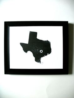 PRINT  Austin TEXAS map  block print 8x10 by thebigharumph on Etsy, $22.00