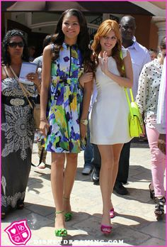 Bella Thorne And Zendaya Coleman Visit Extra At The Grove