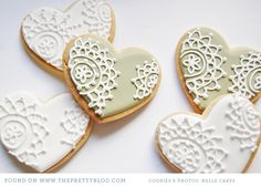 I love the idea of some being white on white, and others having the colour underneath.  It adds interest to a set of cookies for events.