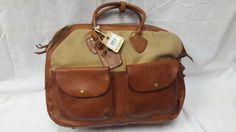 Ralph Lauren RRL Double RL Leather and Canvas Cargo Bag | eBay