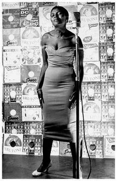 Photo of a young Miriam Makeba in South Africa by Jurgen Schadeberg