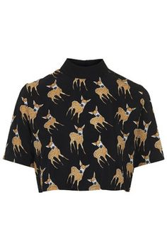 **Fawn Print Crop Top by Oh My Love