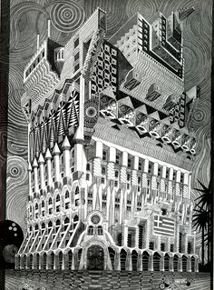 Surreal Work by Pedro Friedeberg: 1962-Pedro_Friedeberg-LArchitectureDAujourdHui-102-Jun-103-web.jpg