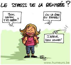 Rentrée scolaire ! Stress, Parenting, Lol, Comics, Phrases, French Language, Week End, Jouer, Recherche Google
