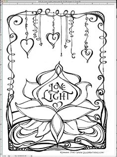 This Zenspirations Dangle Design Is From A Page Of My New Flower Coloring Book By CarolinaBarbosa