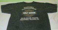 HARLEY DAVIDSON Dealer  T Shirt Sz L -  Black - Stone Wash - DAYTONA BEACH - FL #HarleyDavidson #GraphicTee