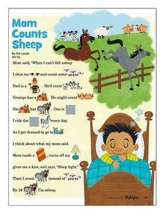 #MichaelRobertson #illustration #childrensbooks #children #whimsical #MomCountsSheeps #lindgrensmith