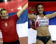,TATJANA JELACA #SilverMedal  #javelinthrow , #IVANASPANOVIC #SilverMedal #LongJump #Serbia #EuroAthleticsZurich2014