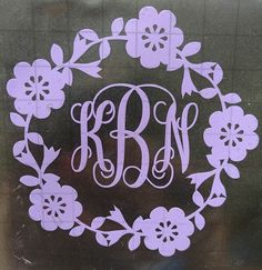 Shop Monogram Car Decal On Wanelo Cricut Crafts Pinterest - Monogram decal on car
