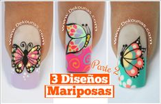 Deko Uñas by Diana Diaz Beauty And The Beast Nails, Beauty Nails, Butterfly Nail Art, Rose Nails, Best Acrylic Nails, Stylish Nails, Cool Nail Art, Manicure And Pedicure, Manicure Ideas