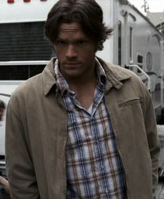 Sam's Blue and Light Brown Plaid Shirt (plus Sam's Beige Jacket), 2.18, 4.04