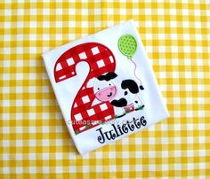 FARM BIRTHDAY SHIRT  Personalized Shirt  Farm Friends  by cuteasme