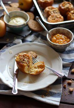 Manzanas asadas rellenas de mascarpone - Rico sin azúcar