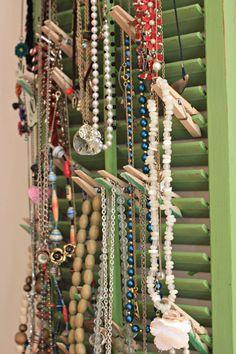 DIY Shutter Jewelry Display!