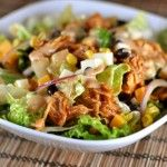 BBQ Chicken Salad with Creamy BBQ Cilantro Lime Dressing from Mel's Kitchen Cafe