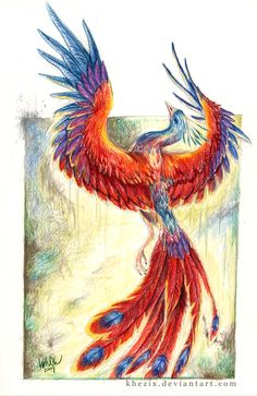 Prismatic Rising by Khezix on DeviantArt - mari Phoenix Artwork, Phoenix Images, Phoenix Dragon, Phoenix Tattoo Design, Phoenix Bird Tattoos, Costume Venitien, Illustration Vector, Phoenix Rising, Mythical Creatures