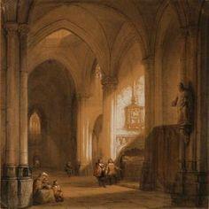Jean-Baptist Tetar Van Elven - Interior From A Gothic Church