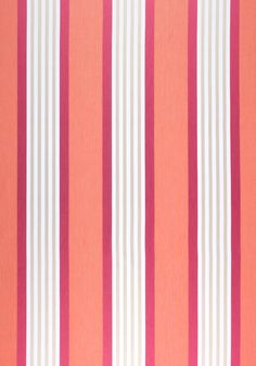 EMERSON STRIPE, Coral and Pink, W80115, Collection Woven 9: Plaids & Stripes from Thibaut