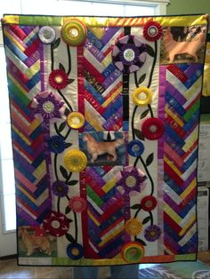 Ribbon Quilt for a Golden Retriever Kennel
